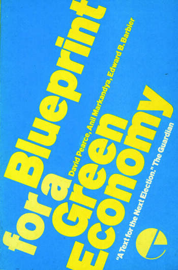 Blueprint 1 For a Green Economy book cover