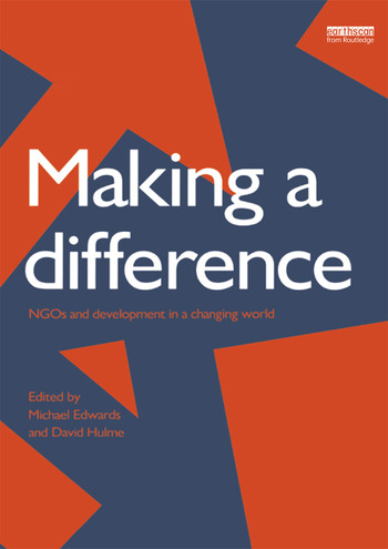 Making a Difference NGO's and Development in a Changing World book cover