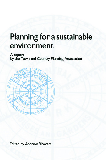 Planning for a Sustainable Environment book cover