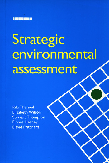 Strategic Environmental Assessment book cover
