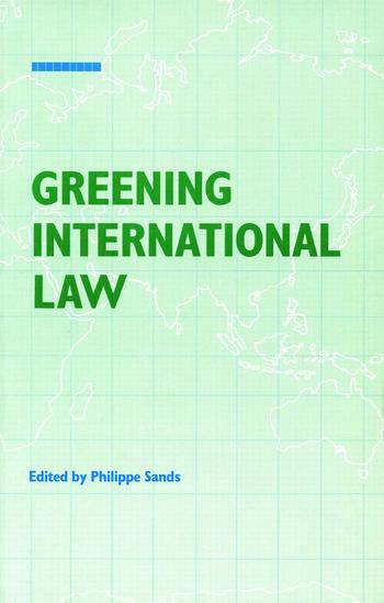 Greening International Law book cover