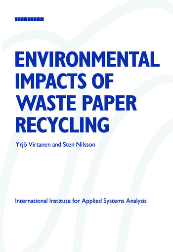 Environmental Impacts of Waste Paper Recycling book cover