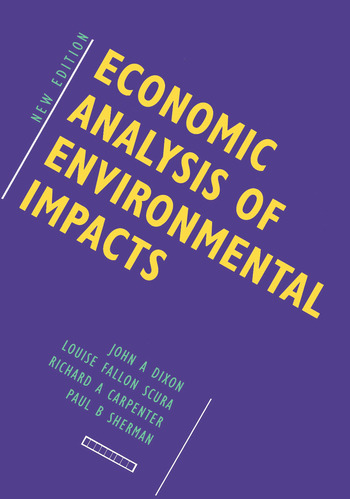 Economic Analysis of Environmental Impacts book cover