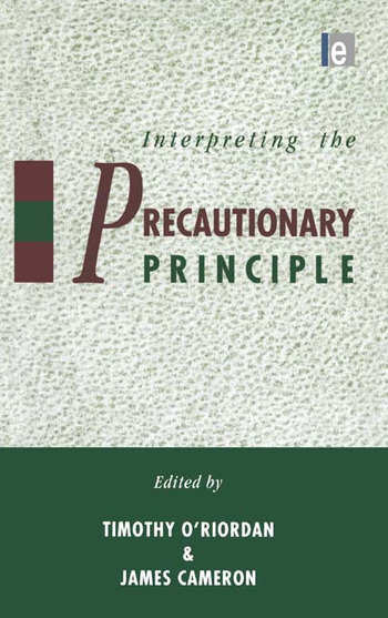 Interpreting the Precautionary Principle book cover