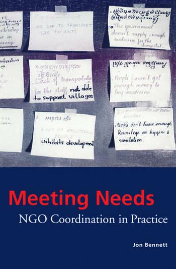Meeting Needs NGO Coordination in Practice book cover