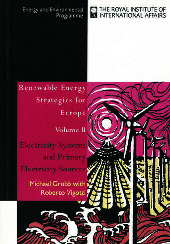 Renewable Energy Strategies for Europe Electricity Systems and Primary Electricity Sources book cover