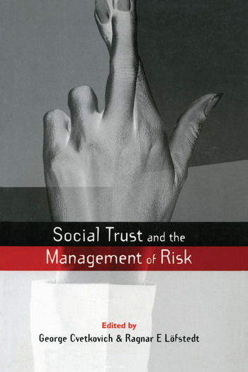 Social Trust and the Management of Risk book cover