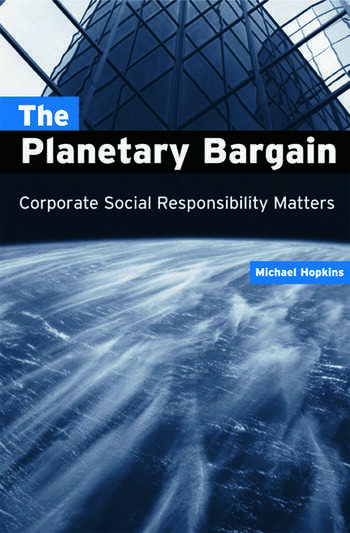 The Planetary Bargain Corporate Social Responsibility Matters book cover