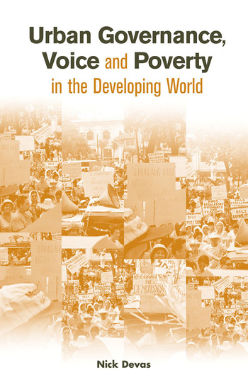 Urban Governance Voice and Poverty in the Developing World book cover