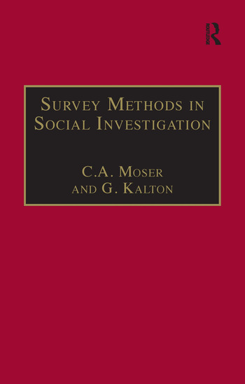 Survey Methods in Social Investigation book cover