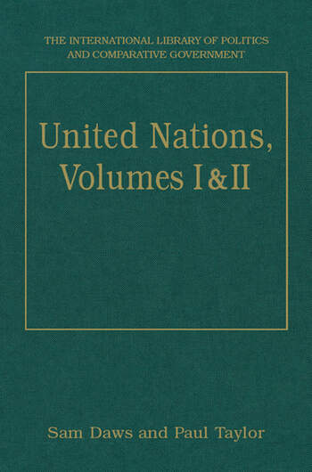 United Nations, Volumes I and II Volume I: Systems and Structures Volume II: Functions and Futures book cover