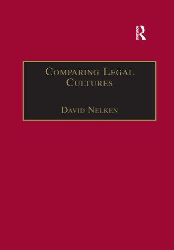 Comparing Legal Cultures book cover