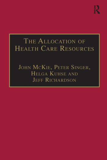 The Allocation of Health Care Resources An Ethical Evaluation of the 'QALY' Approach book cover