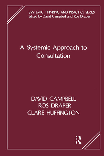 A Systemic Approach to Consultation book cover