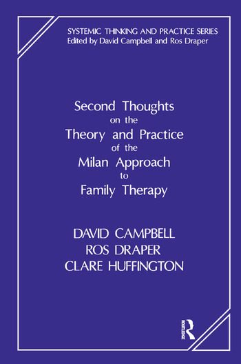 Second Thoughts on the Theory and Practice of the Milan Approach to Family Therapy book cover