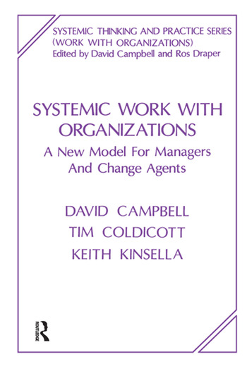 Systemic Work with Organizations A New Model for Managers and Change Agents book cover