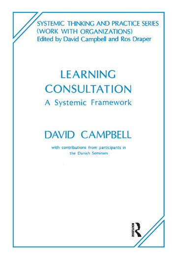 Learning Consultation A Systemic Framework book cover
