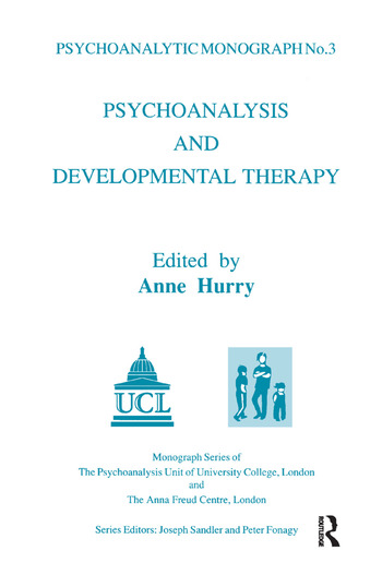 Psychoanalysis and Developmental Therapy book cover