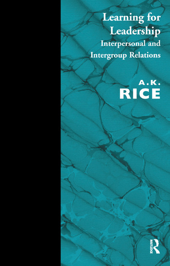 Learning for Leadership Interpersonal and Intergroup Relations book cover