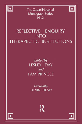 Reflective Enquiry into Therapeutic Institutions book cover