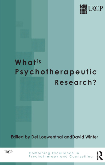 What is Psychotherapeutic Research? book cover