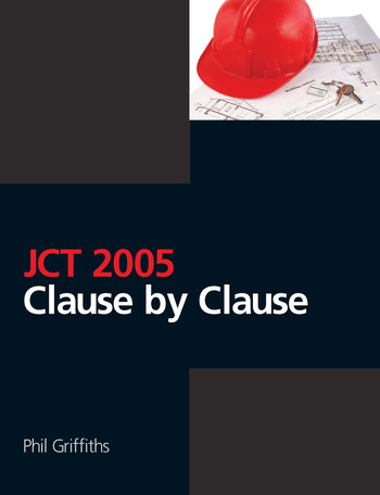 JCT 2005: Clause by Clause book cover