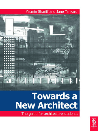 Towards a New Architect book cover