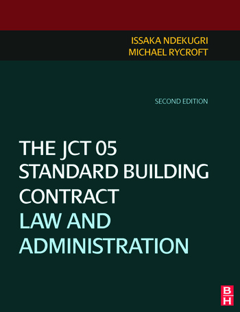 The JCT 05 Standard Building Contract book cover