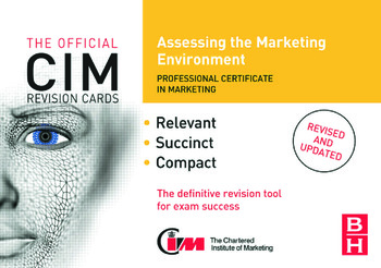 CIM Revision Cards: Assessing the Marketing Environment book cover