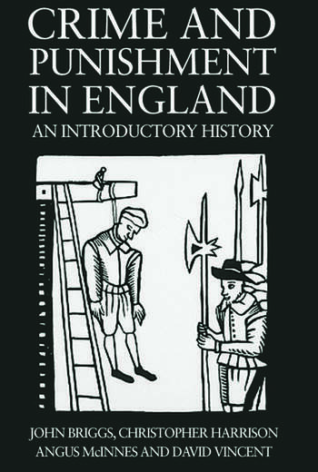 Crime And Punishment In England An Introductory History book cover