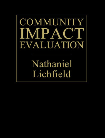 Community Impact Evaluation Principles And Practice book cover