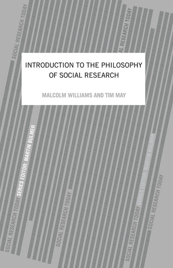 An Introduction To The Philosophy Of Social Research book cover