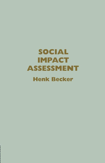 Social Impact Assessment Method And Experience In Europe, North America And The Developing World book cover