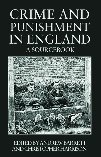 Crime and Punishment in England A Sourcebook book cover