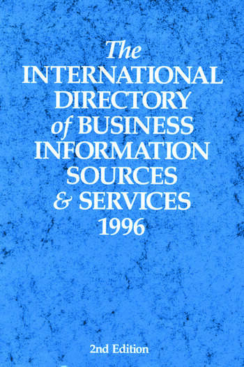The International Directory of Business Information Sources and Services 1996 book cover
