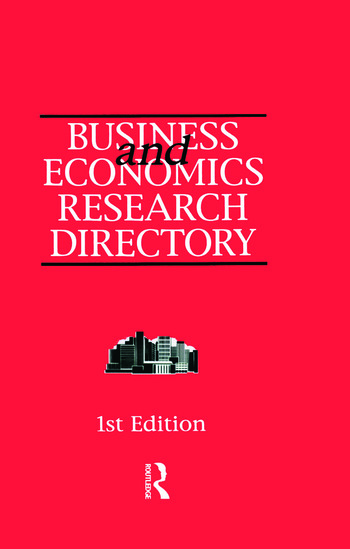 Business and Economics Research Directory book cover