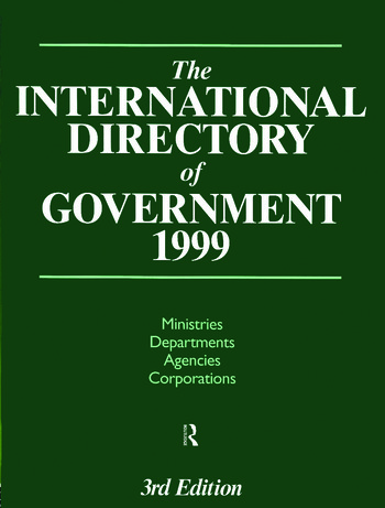 The International Directory of Government 1999 book cover