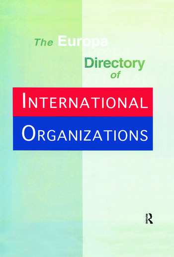 Europa Directory Intl Org Ed1 book cover