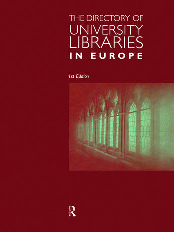 The Directory of University Libraries in Europe book cover
