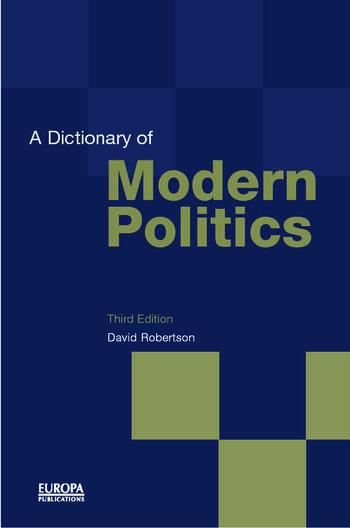 A Dictionary of Modern Politics book cover