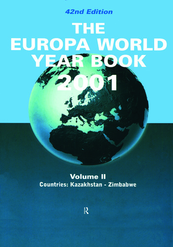 Europa World Year Bk 2001 V2 book cover