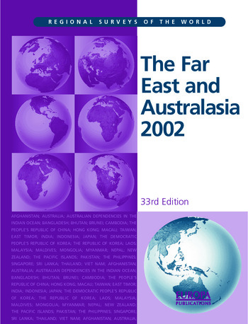 The Far East and Australasia 2002 book cover