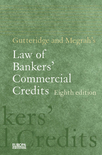 Gutteridge and Megrah's Law of Bankers' Commercial Credits book cover