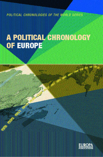A Political Chronology of Europe book cover