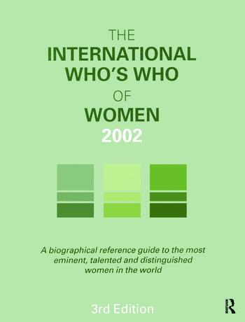 The International Who's Who of Women 2002 book cover