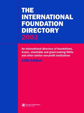 The International Foundation Directory 2002 book cover