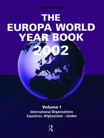 Europa World Year Bk 2002 V1 book cover