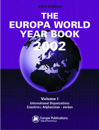 The Europa World Year Book 2002 book cover