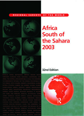 Africa South of the Sahara 2003 book cover