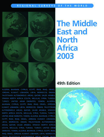 The Middle East and North Africa 2003 book cover